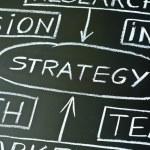Стратегия диаграмма на доске — Стоковое фото