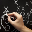 Man drawing a game strategy — Stock Photo