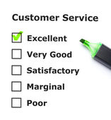 Customer service evaluation — Stockfoto