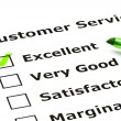 Customer service evaluation form - Stock Photo