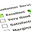 Stock Photo: Customer service evaluation form