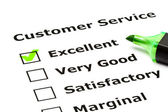 Customer service evaluation form — Stock Photo