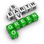 andare verde, salvare la terra — Foto Stock