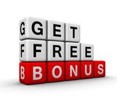 Get free bonus symbol for sales promotion — Stock Photo