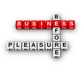 Business before pleasure — Stock Photo