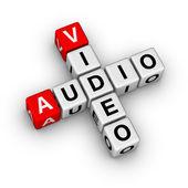 Audio and video — Stock Photo