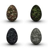 Military Easter Eggs — Stock Photo
