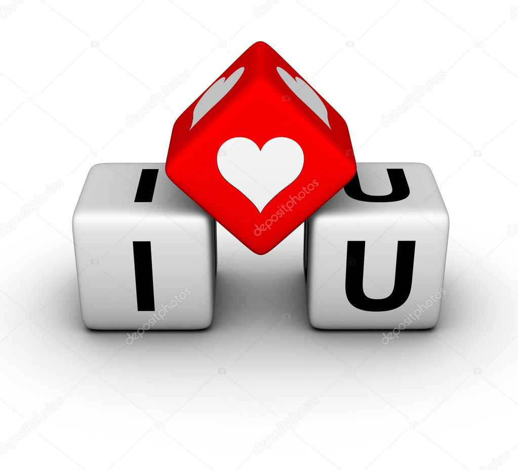 I love you (valentines day symbol) — Stock Photo #5530342