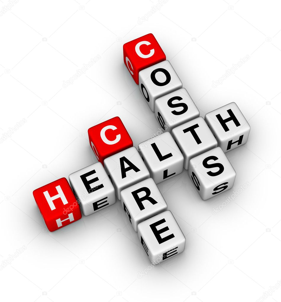 Health care costs crossword  Stock Photo #5530402