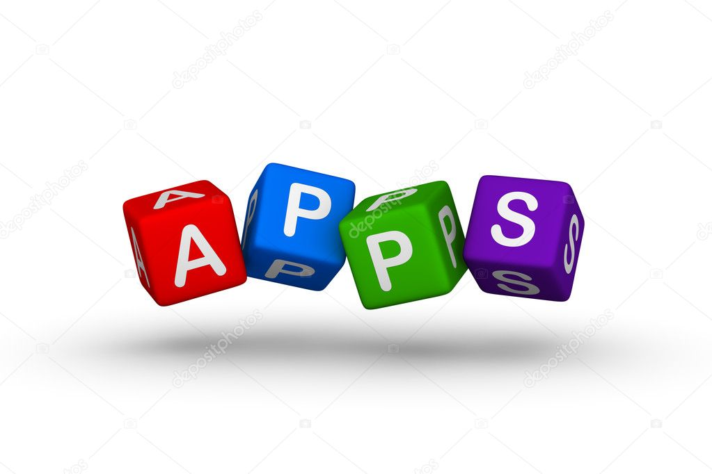 Apps multicolor symbol for web design  Stock Photo #5530428