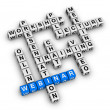 Webinar structure crossword — Stock Photo