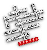 Travel direction — Stock Photo
