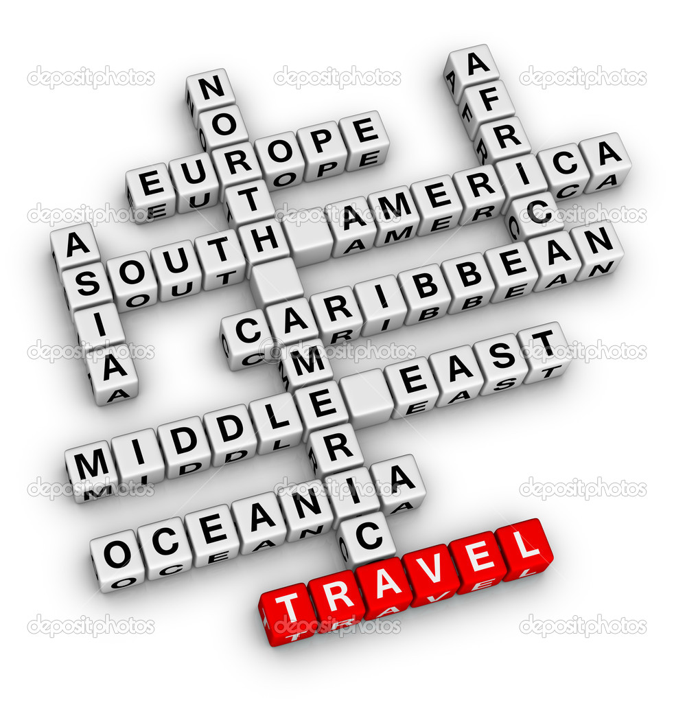 Travel direction crossword — Stock Photo #5680981