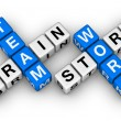 Brainstorm and teamwork - Stockfoto