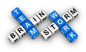 Brainstorm and teamwork — Stock Photo