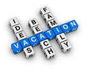 Ideas beach family vacation — Stock Photo