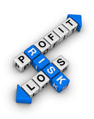 Risk - Profit and Loss — Stock Photo
