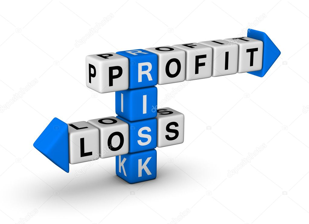 Risk, Profit and Loss crossword — Stock Photo #5850431