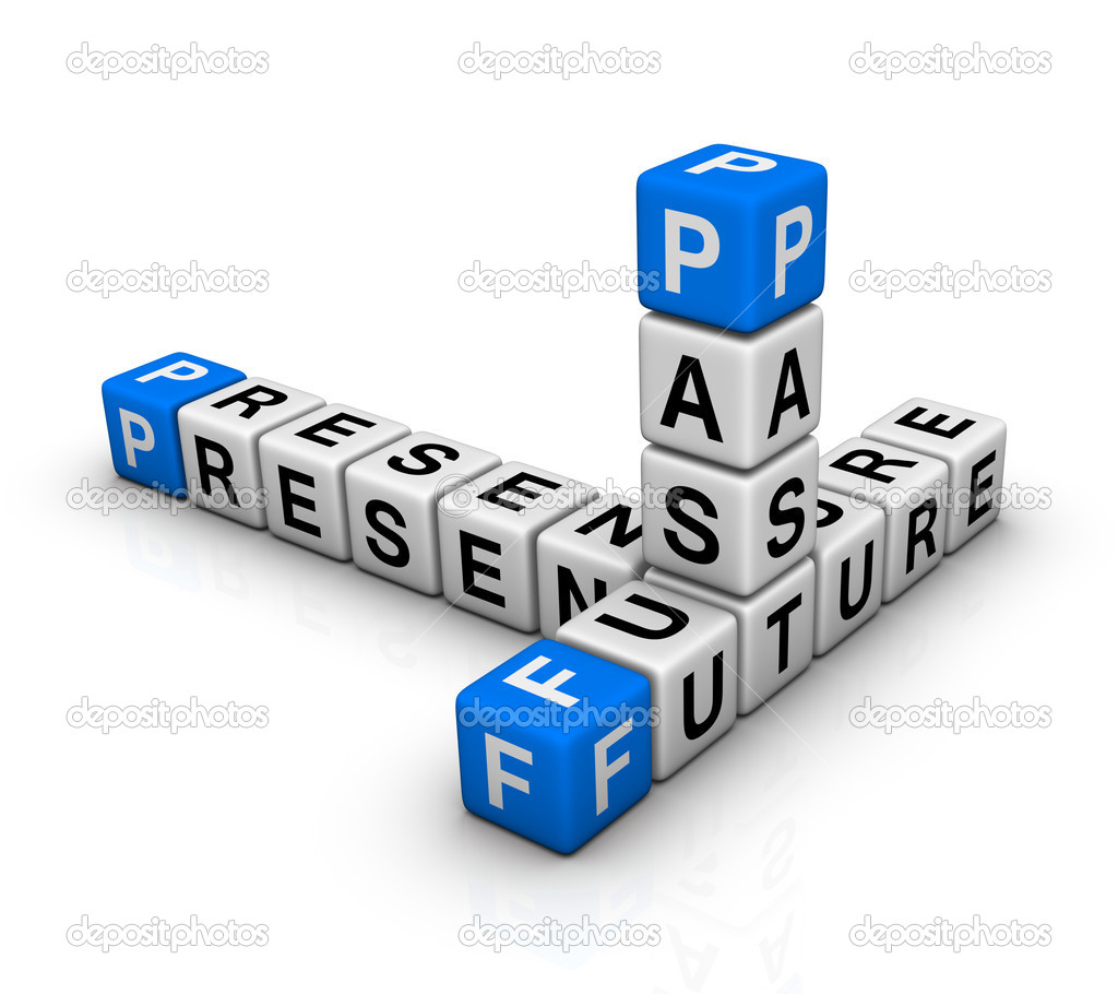 Future, Past & Present crossword  Stock Photo #5850447