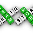 Brainstorm and teamwork — 图库照片 #6116222