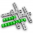 Major world religions — Stock Photo #6116249