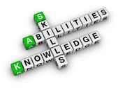 Skills, Knowledge, Abilities — Stock Photo