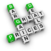 Great deals and bargain prices — Stock Photo