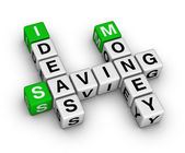 Ideas saving money crossword — Stock Photo