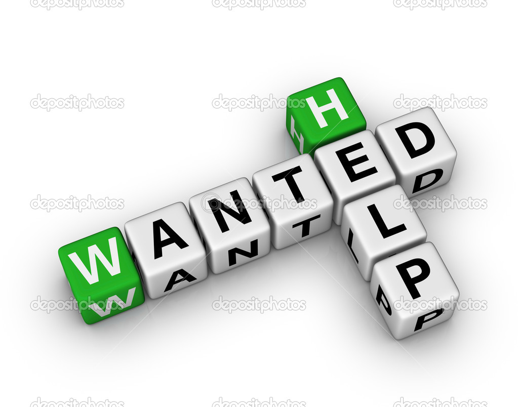 Help Wanted crossword sign — Stock Photo #6116208