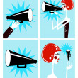Loudspeaker and megaphone — Stock Photo