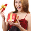 Girl with gift box — Stock Photo #5430863