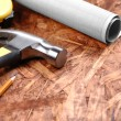 Carpenter tools — Stock Photo #5430866