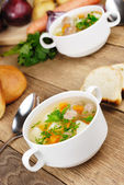 Meatballs soup — Stock Photo