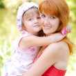 Woman and young girl — Stock Photo