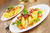 Rigatoni pasta — Stock Photo