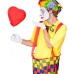 Clown in love — Stock Photo