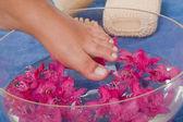 Refreshing footbath — Stock Photo