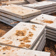 Stacks of concrete slabs — Stock Photo