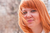 Portrait of a ginger-haired woman — Stock Photo