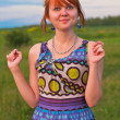 Beautiful ginger-haired woman staring with astonishment — Stock Photo #5903933