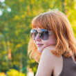Portrait of a beautiful ginger-haired woman — Stock Photo