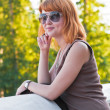 Portrait of a beautiful ginger-haired woman — Stock Photo #6119987