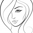 Royalty-Free Stock Vector Image: Beauty face girl portrait
