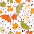 Stock Vector: Seamless autumn background