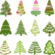 Royalty-Free Stock Vector Image: Christmas set tree. Elements for design