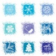 Royalty-Free Stock Imagen vectorial: Set christmas icons