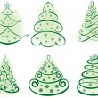 Christmas set tree. Elements for design — Stock Vector