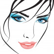 Stock Vector: Beauty girl face. design elements