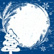 Christmas vector border. Design element. — Stock Vector