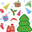 Set of christmas icons — Stock Vector #5416674
